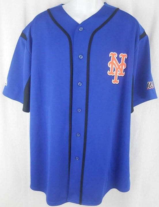 VF New York Mets MLB Majestic Blue Wind Up Jersey (M)