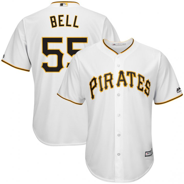 Outerstuff Youth Kids Pittsburgh Pirates 55 Josh Bell Baseball Player Jersey White