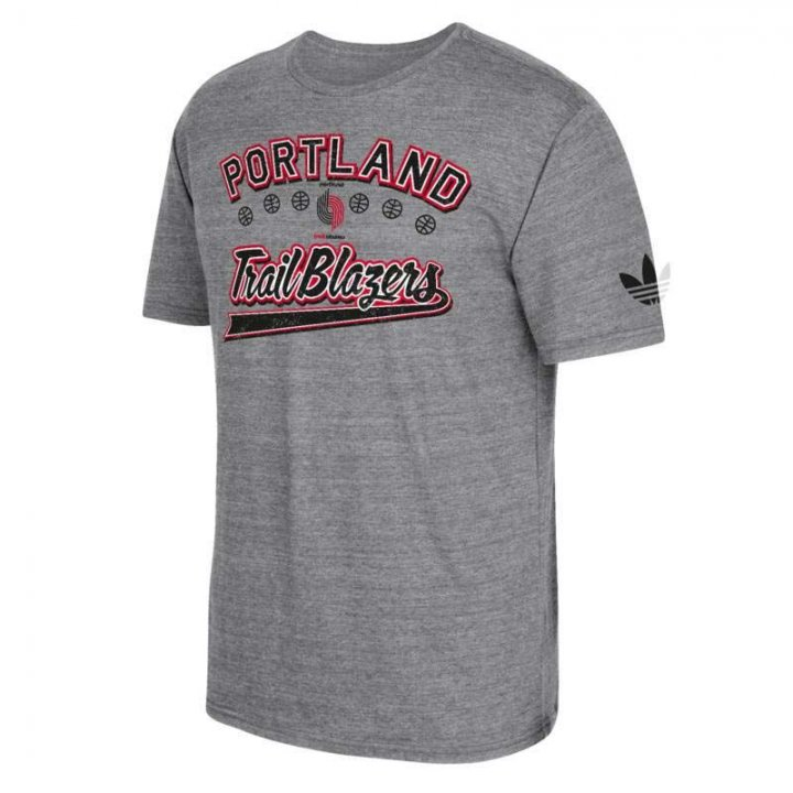Adidas Portland Trail Blazers Great Logos T-Shirt (Charcoal)
