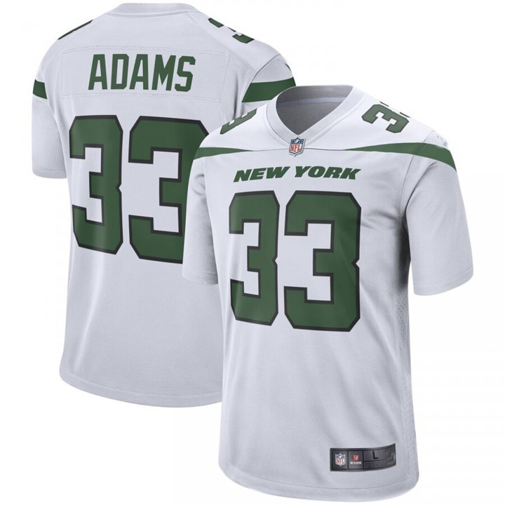 Franklin Sports Men's Jamal Adams #33 New York Jets Game Jersey - Spotlight White
