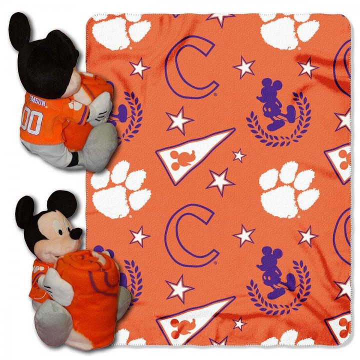 Clemson Tigers Mickey Hugger With Throw
