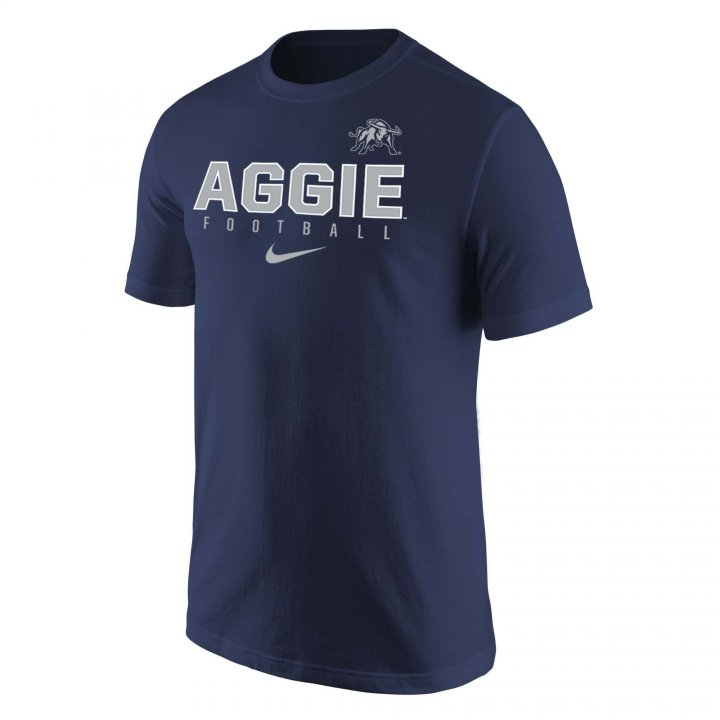 Utah State Aggies Facility Cotton T-Shirt (Navy)