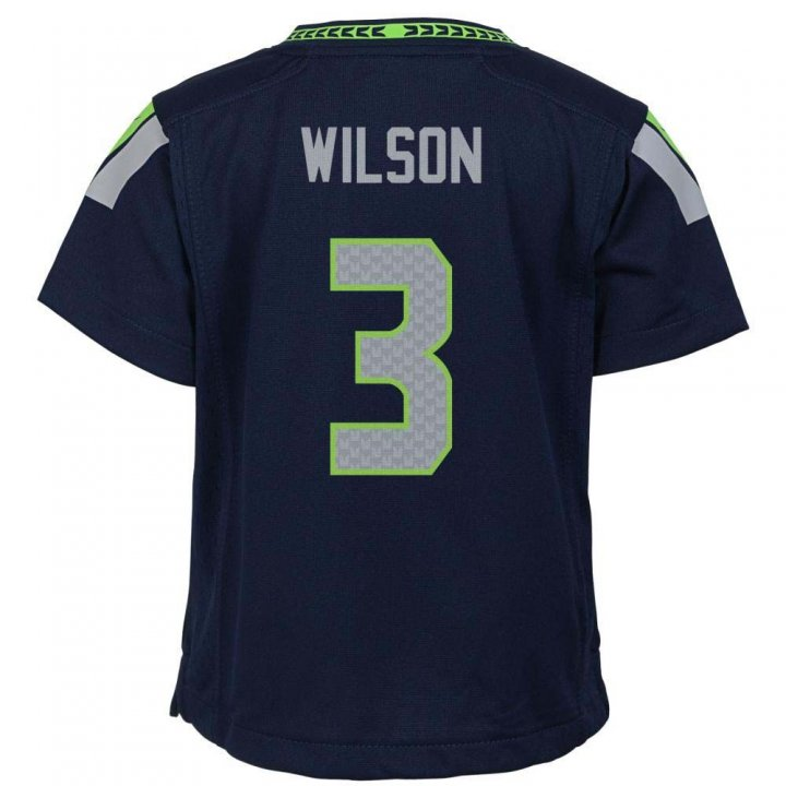 Russell Wilson Seattle Seahawks Nike Toddler Game Jersey (Navy)