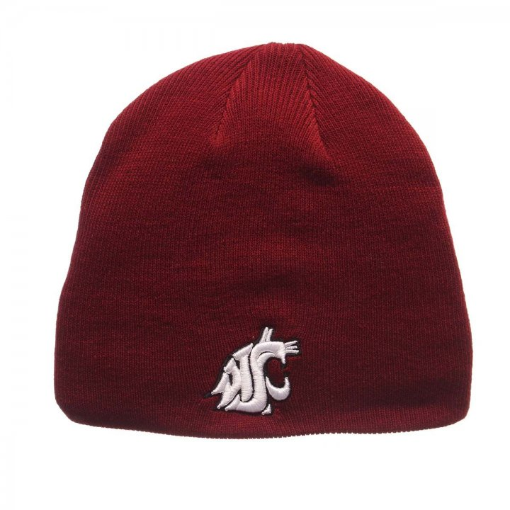 Washington State Cougars Edge Knit Beanie (Red)