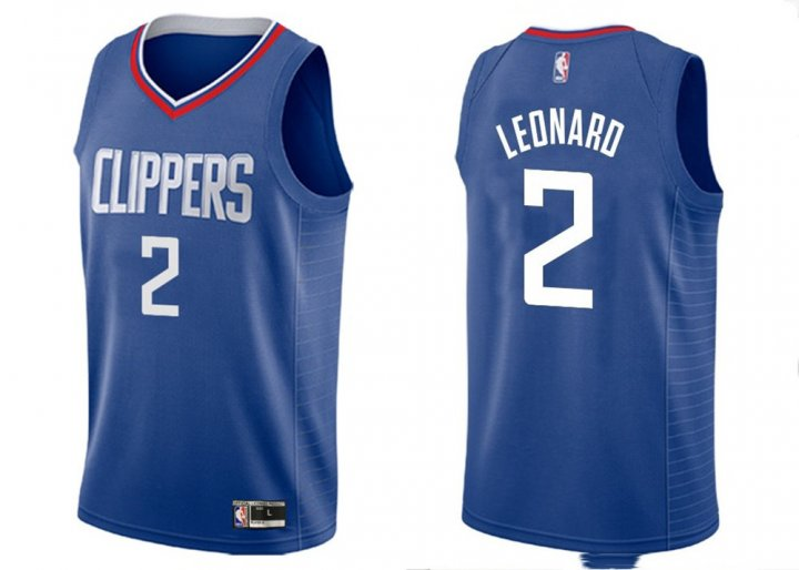 Franklin Sports Youth Kids 2 Kawhi Leonard LA Clippers Jersey Blue