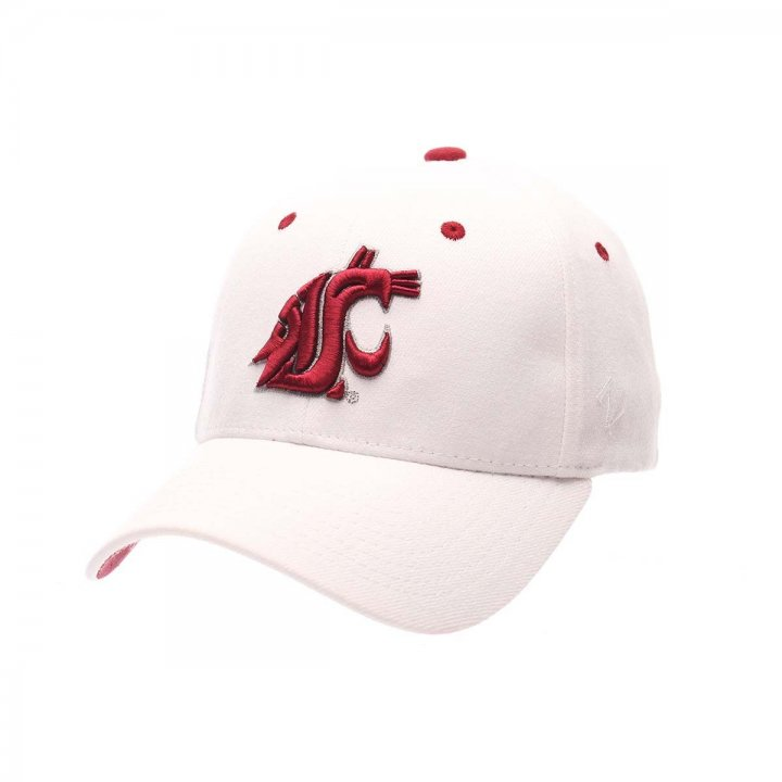 Washington State Cougars Zephyr NCAA Zh Flex Fit Hat (White)