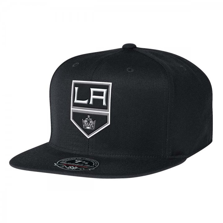 Mitchell & Ness Los Angeles Kings Solid HC Fitted Hat (Black)