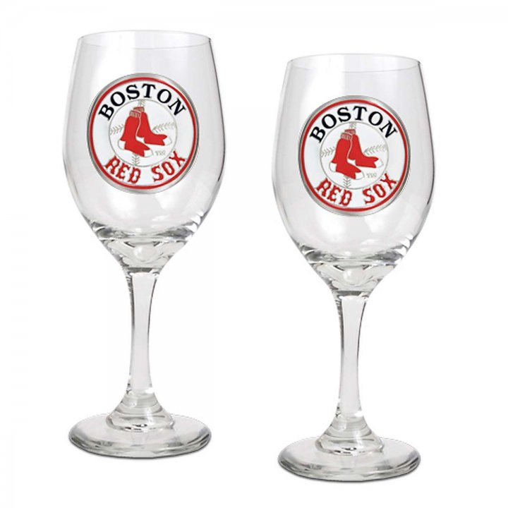 Boston Red Sox Boston Red Sox 2 Piece Wine Glass Set