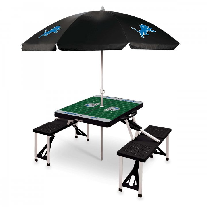 Detroit Lions Picnic Table Sport with Umbrella