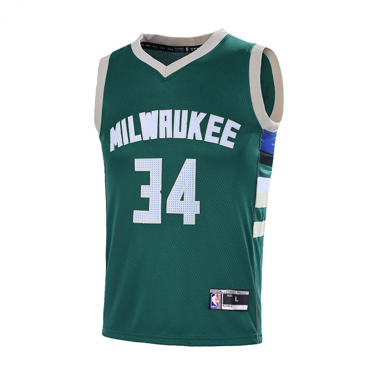 Outerstuff Youth 8-20 Milwaukee Bucks #34 Giannis Antetokounmpo Jersey Green