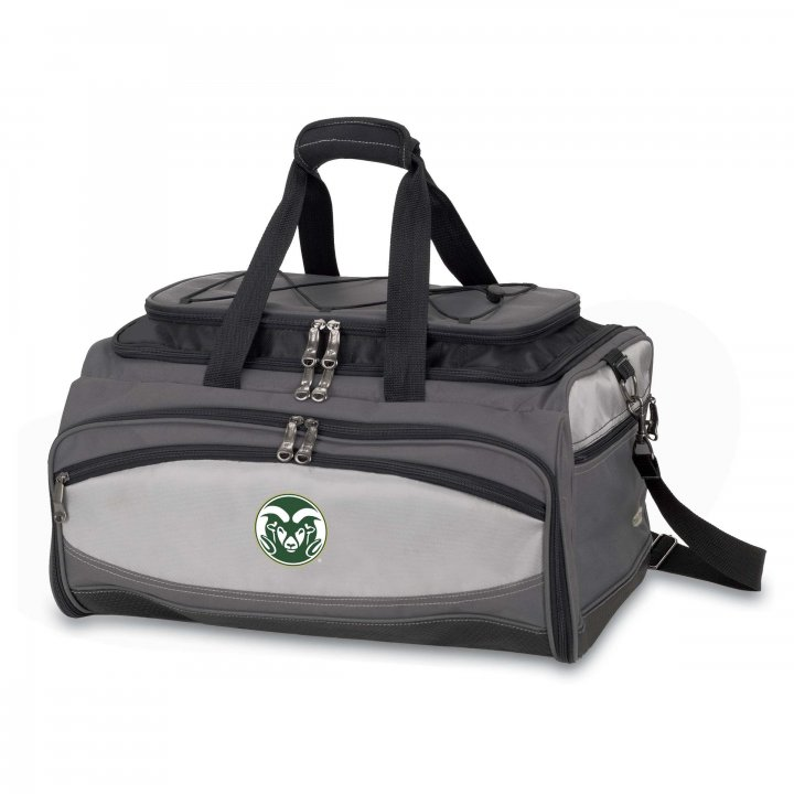 Colorado State Rams Buccaneer Portable BBQ and Cooler Tote (Black)