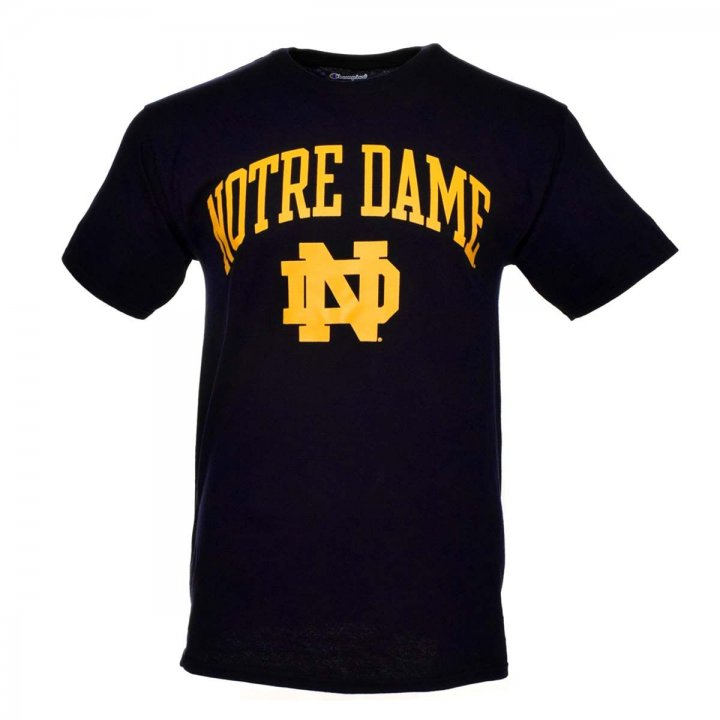 Notre Dame Fighting Irish NCAA Arch And Logo Tee (Navy)