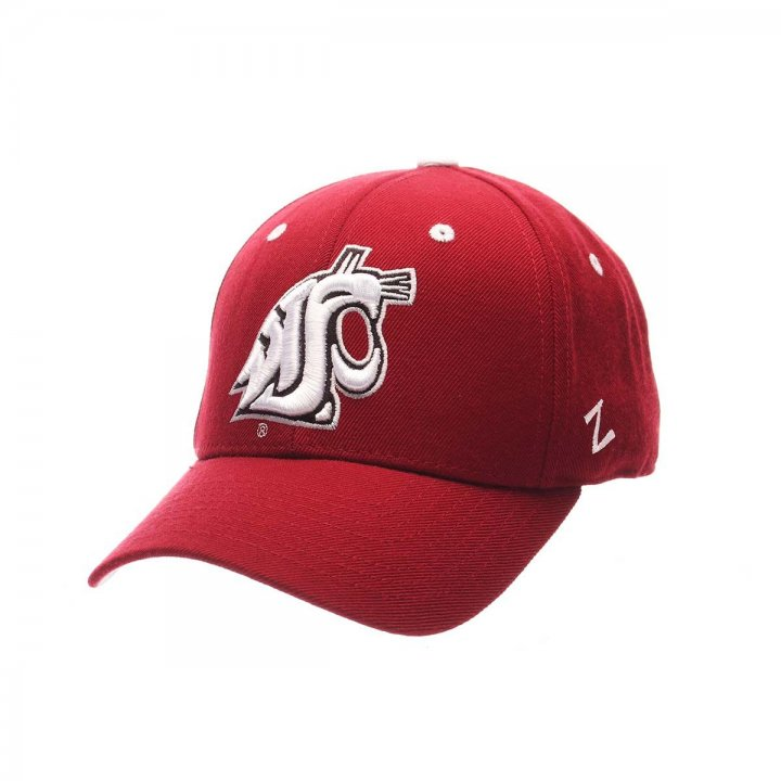 Washington State Cougars Zephyr NCAA Dh Fitted Hat (Red)