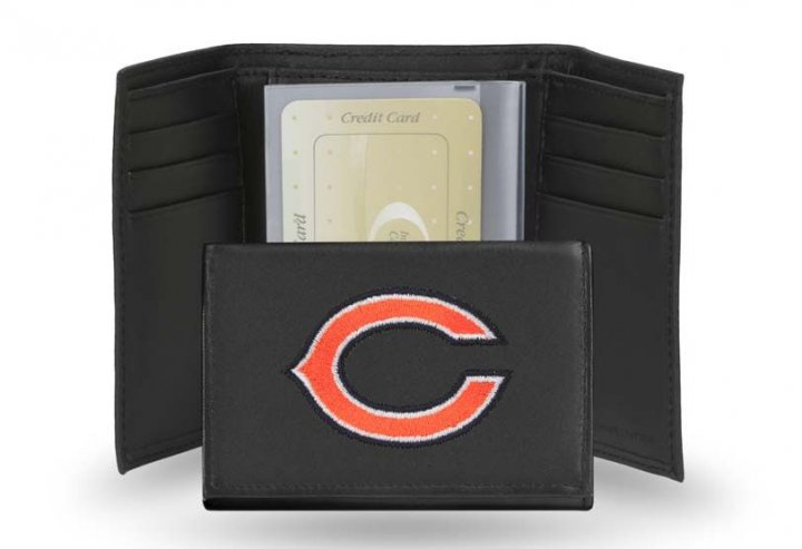 Chicago Bears NFL Leather Wallet (Black)