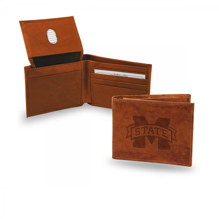 Mississippi State Bulldogs Embossed Leather Billfold