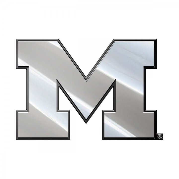 Michigan Wolverines Metal Emblem