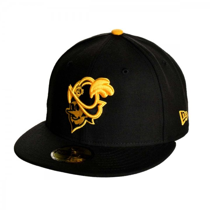 Albuquerque Dukes MiLB Solid Duke Yellow 5950 (Black)