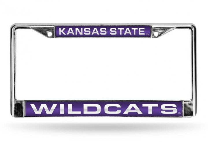 Kansas State Wildcats NCAA Laser Chrome License Plate Frame
