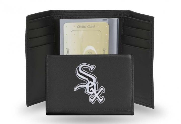 Chicago White Sox MLB Leather Trifold Wallet (Black)
