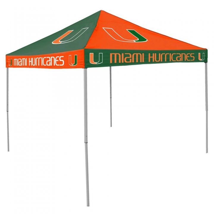 Miami Hurricanes Checkerboard Tent