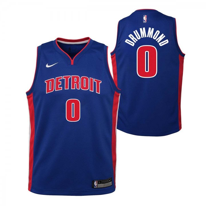 Detroit Pistons NBA Andre Drummond Youth Icon Swingman Jersey (Royal)