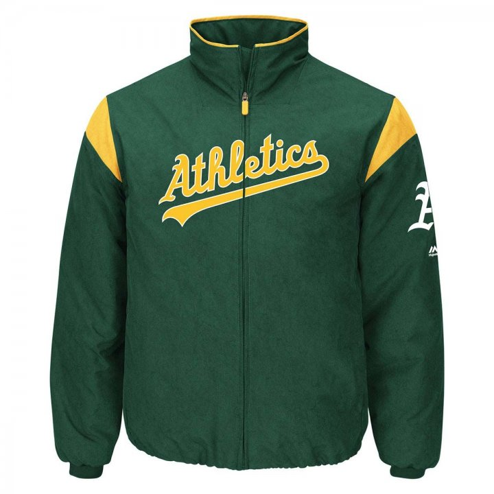 Oakland Athletics MLB On-Field Thermal Dugout Jacket (Green)