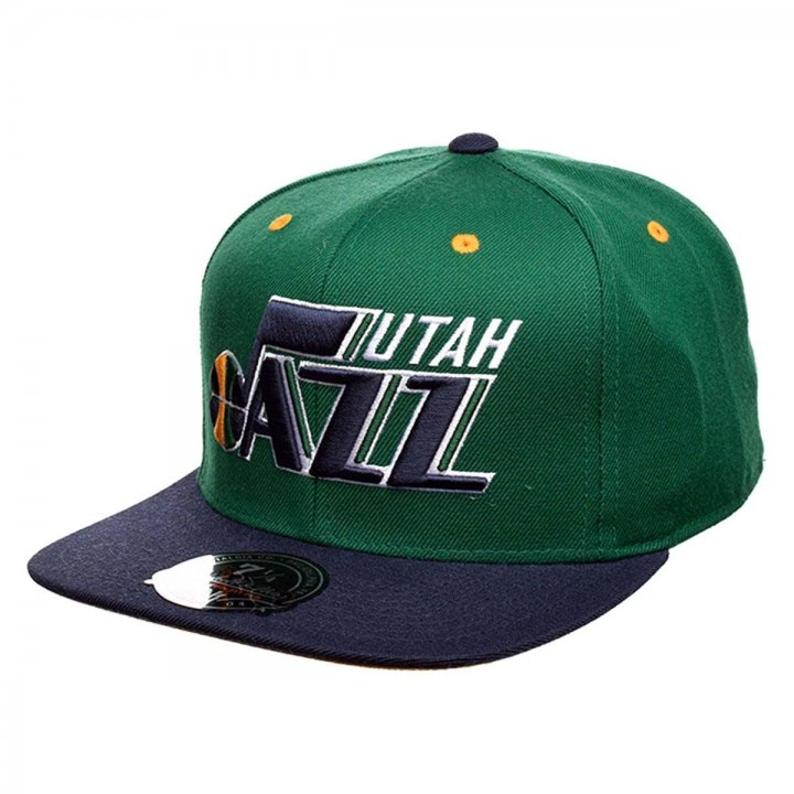 Mitchell & Ness Utah Jazz 2Tone High Crown Fitted Hat (Green)