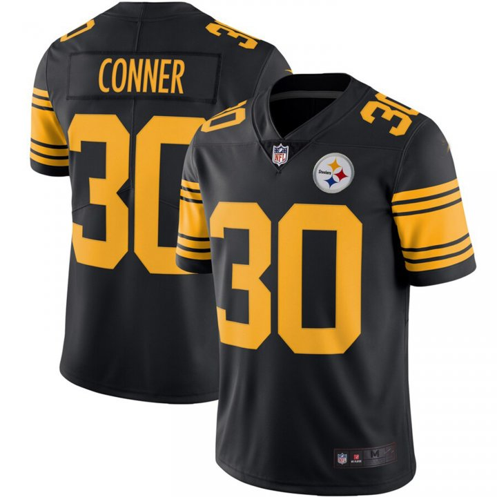 Franklin Sports Men's James Conner #30 Pittsburgh Steelers Color Rush Vapor Limited Jersey - Black