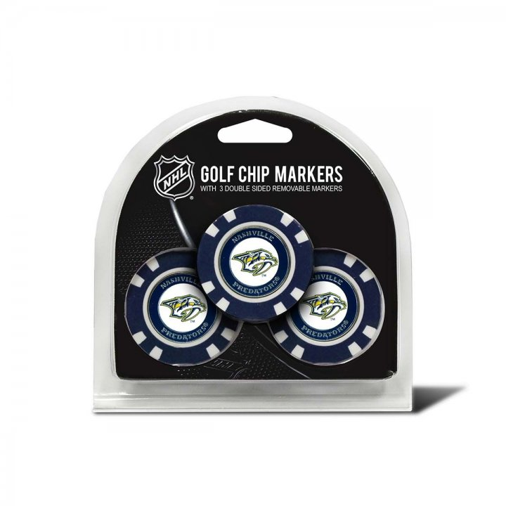 Nashville Predators Golf Ball Markers 3 Pack