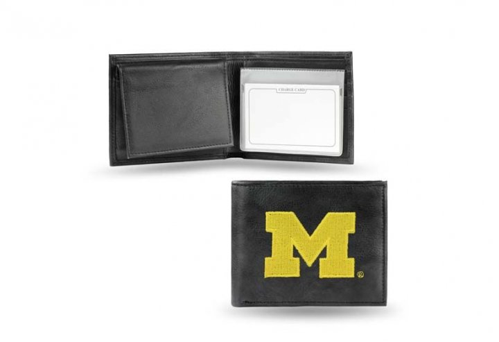 Michigan Wolverines NCAA Leather Wallet (Black)