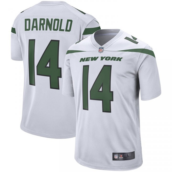Franklin Sports Men's Sam Darnold #14 New York Jets Game Jersey - Spotlight White