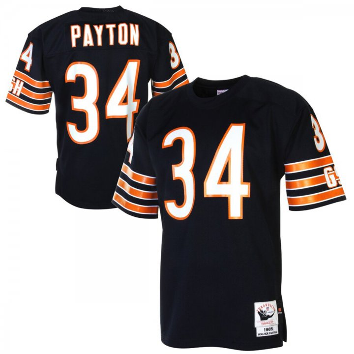 Franklin Sports Walter Payton Chicago Bears 1985 Authentic Throwback Navy Jersey