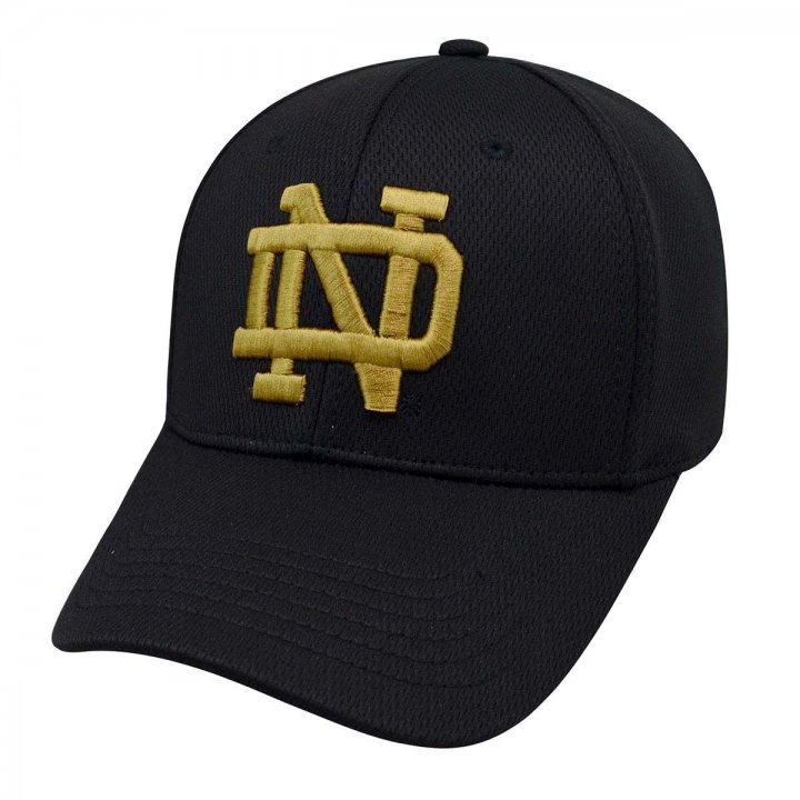 Notre Dame Fighting Irish 3SR Mesh Stretch Hat (Black)