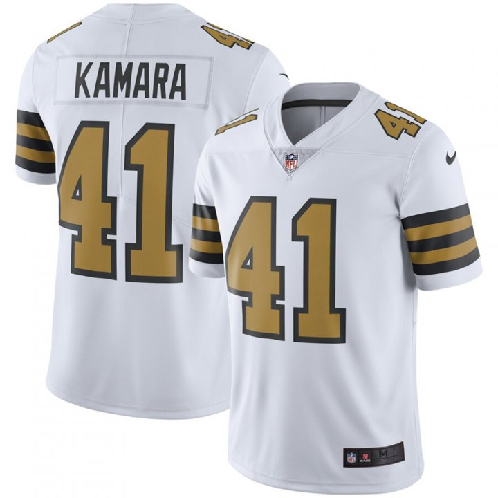 Franklin Sports Alvin Kamara #41 New Orleans Saints Color Rush Limited Player Swingman Jersey - White