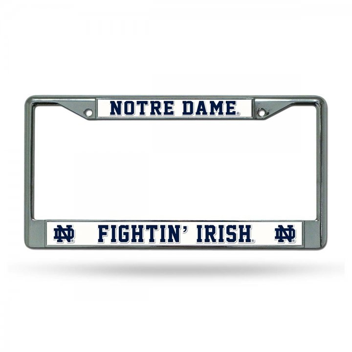 Notre Dame Fighting Irish NCAA Chrome License Plate Frame