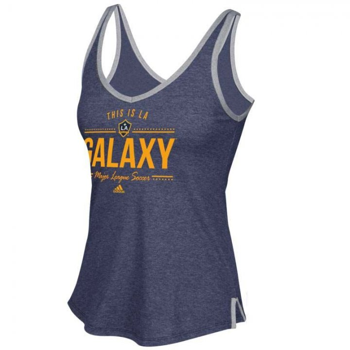 Los Angeles Galaxy MLS Honey Comb Lines V-Neck Tank (Navy)