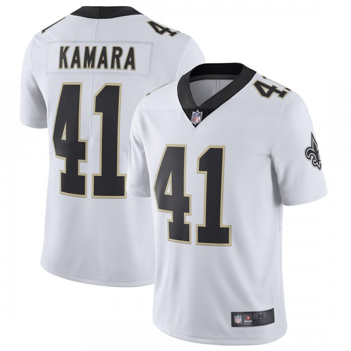 Franklin Sports Youth Kids 41 Alvin Kamara New Orleans Saints Jersey White
