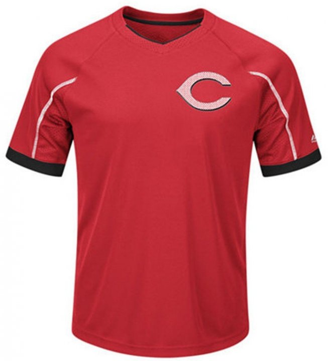 VF Cincinnati Reds MLB Majestic Mens Cool Base Emergence Shirt Big & Tall Sizes