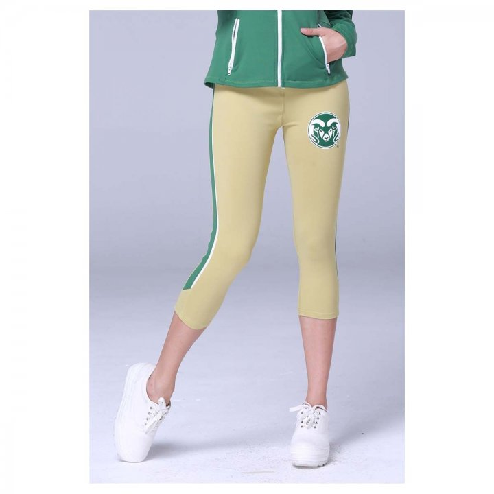 Colorado State Rams Twin Vision Activewear Womens Yoga Capri Pant (Gold)