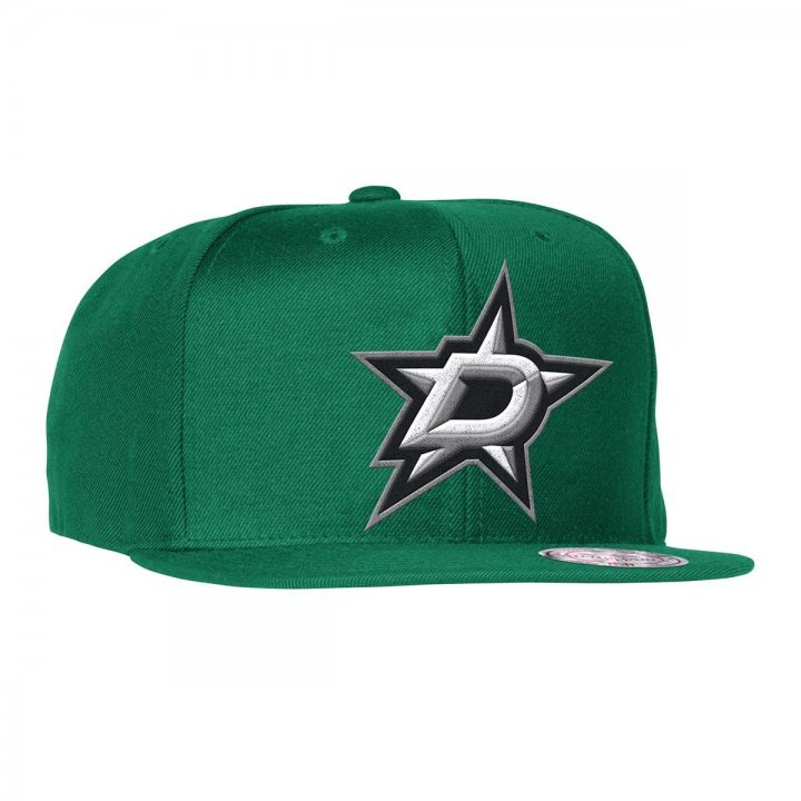Mitchell & Ness Dallas Stars Wool Solid Adjustable Snapback Hat (Green)