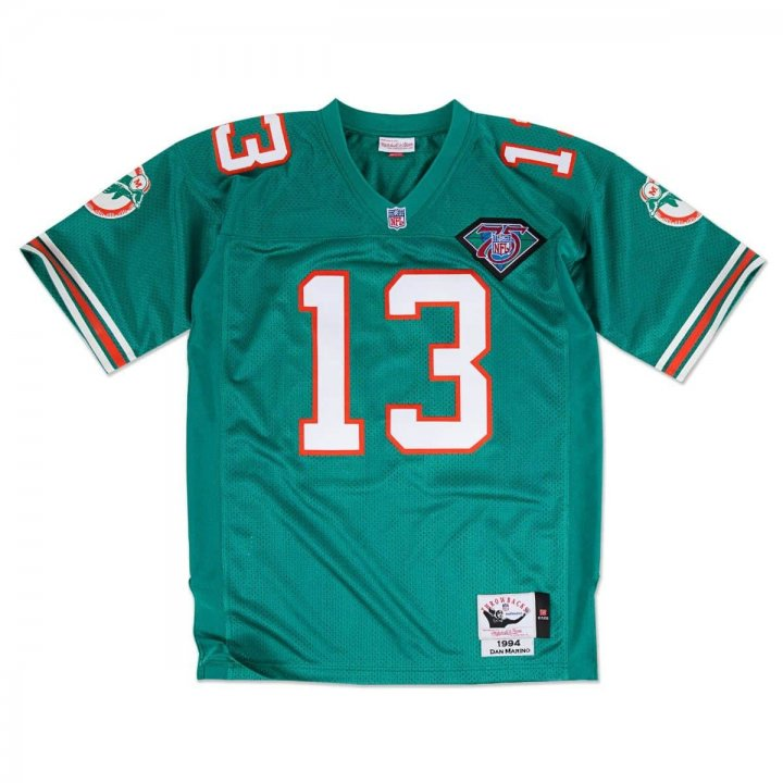 Franklin Sports Men's Dan Marino 1994 Authentic #13 Miami Dolphins Jersey Green