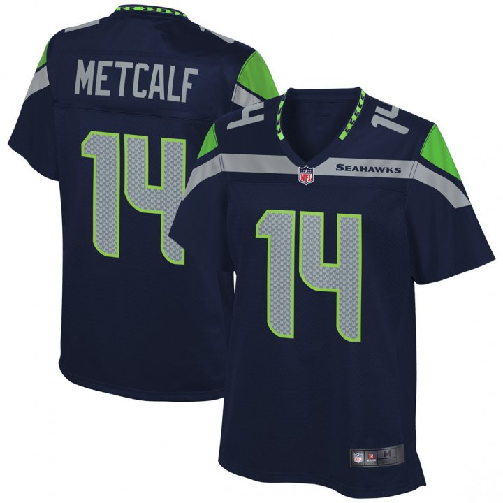 Outerstuff Youth Kids 14 DK Metcalf Seattle Seahawks Jersey Navy