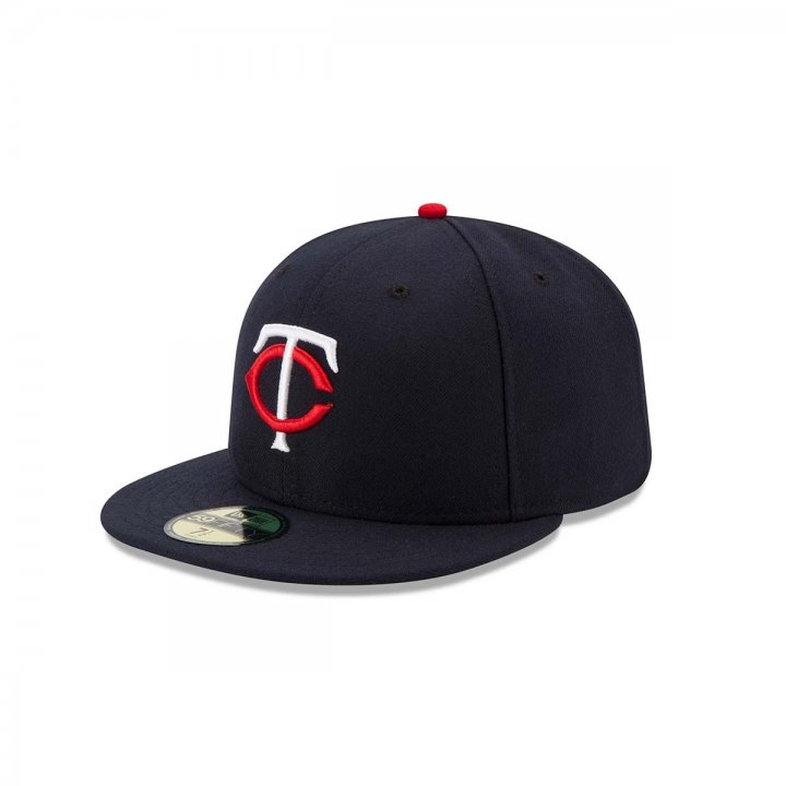 New Era Minnesota Twins Home Performance Fitted Hat (Navy)