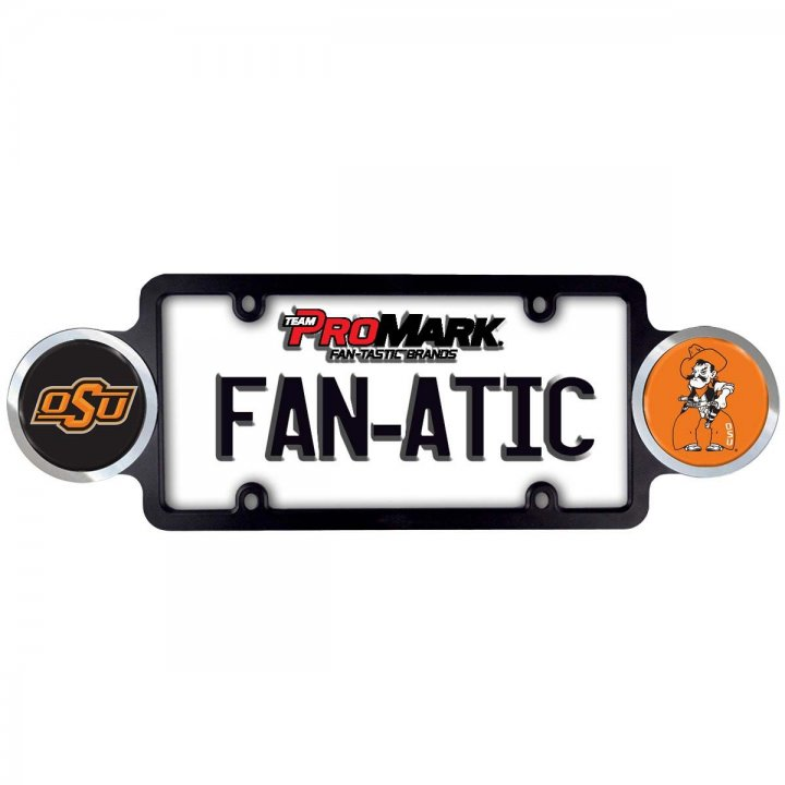 Oklahoma State Cowboys Badge License Plate Frame