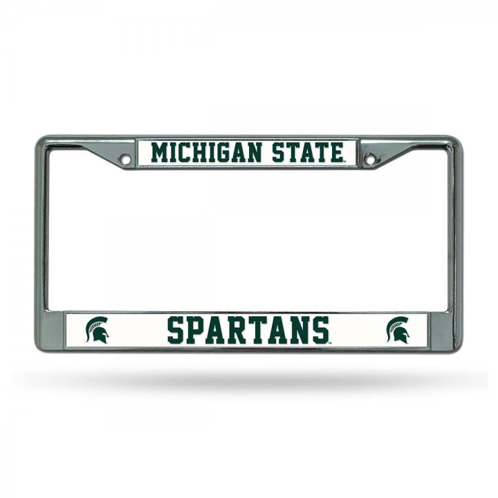 Michigan State Spartans NCAA Laser Chrome License Plate Frame