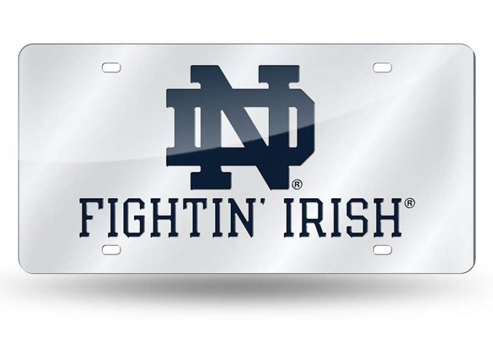 Notre Dame Fighting Irish NCAA Alternate Laser Cut License Plate Tag
