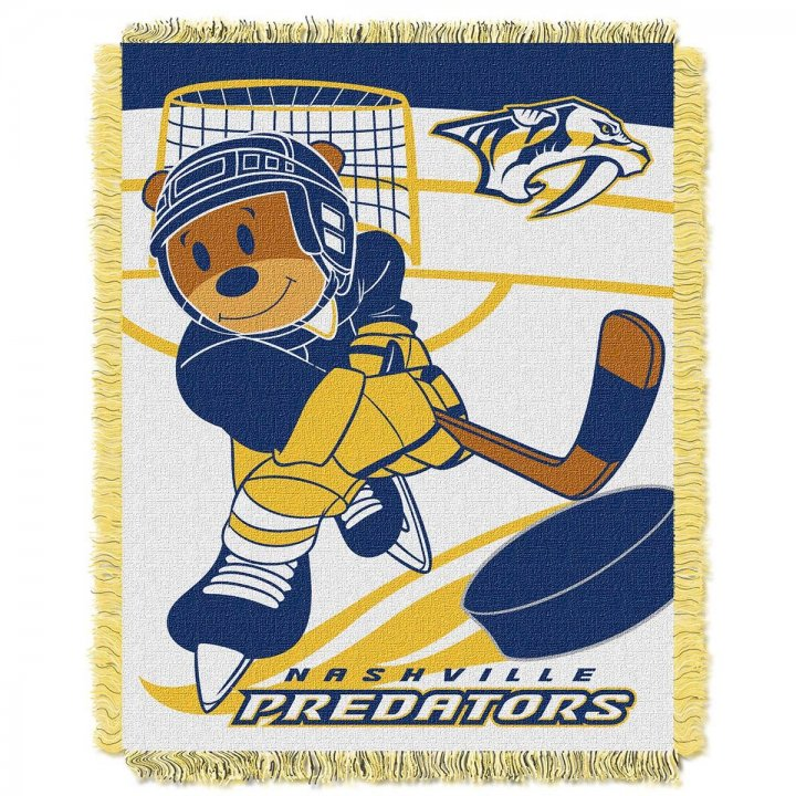 Nashville Predators Score Baby Throw