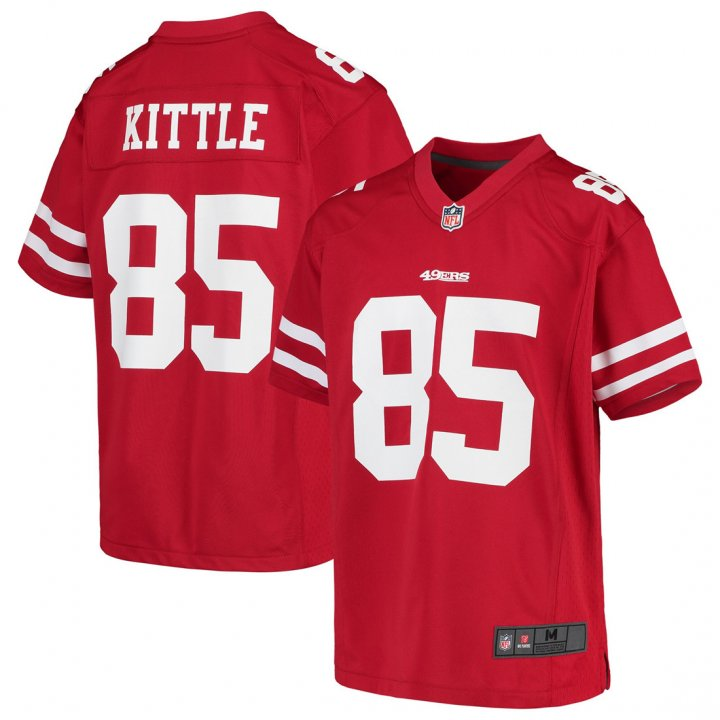 Outerstuff Youth Kids 85 George Kittle San Francisco 49ers Jersey Red