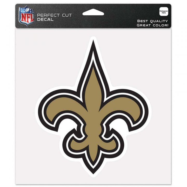 New Orleans Saints 8In Color Die Cut Decal