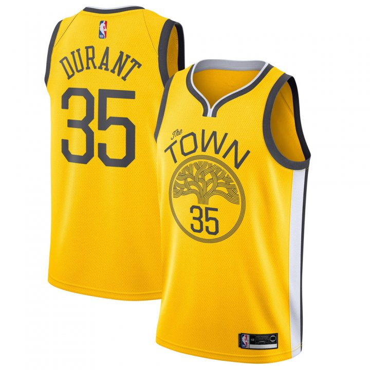 Outerstuff Youth 8-20 Golden State Warriors #35 Kevin Durant Jersey for Kids Yellow